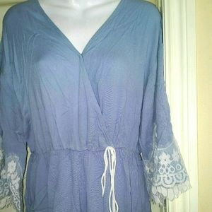 Romper with lace sz xl
